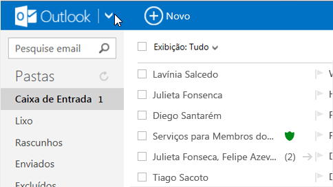 Modificar os contatos a partir do Outlook.com para Android