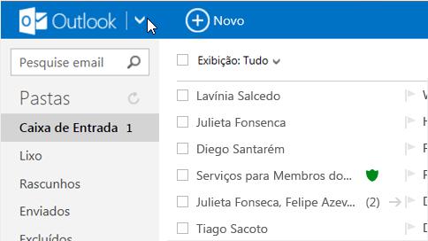 Modificar os contatos a partir do Outlook.com para Android