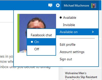 Use o bate-papo do Outlook.com