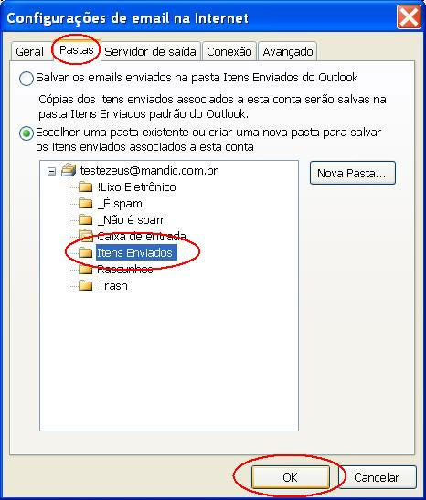 Definir a pasta de anexos no Outlook para Android
