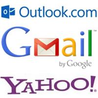 As diferenças entre o Outlook.com, Gmail e Yahoo Mail