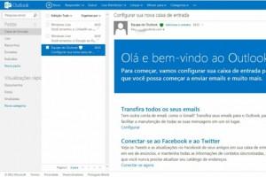 Mudanças na caixa de entrada do Outlook.com