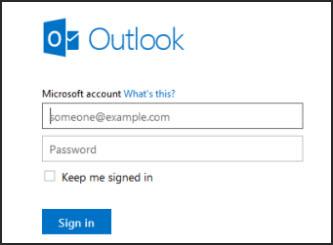 Acessar o Outlook.com de seu navegador móvel