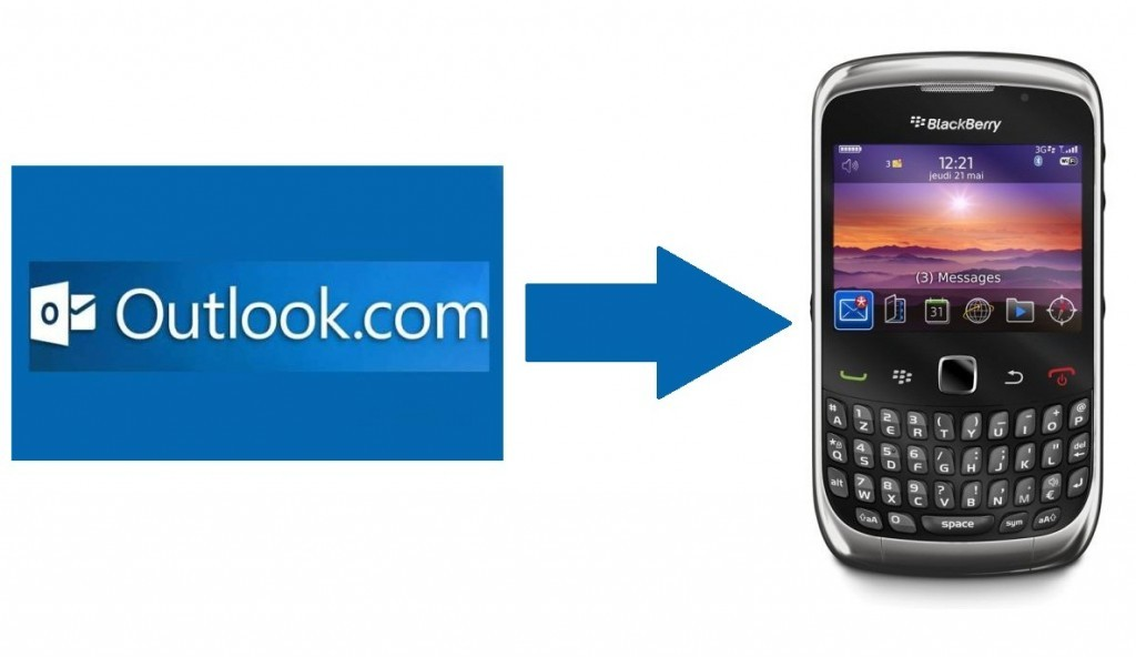 Configurar o Outlook.com no BlackBerry