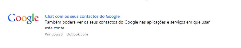 Adicionar o Google Talk à conta Outlook