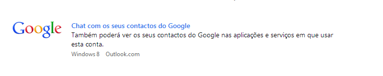 Adicionar o Google Talk à conta Outlook