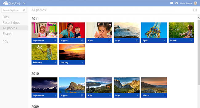 Atualização do aplicativo SkyDrive
