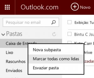 Marcar como lida todos os e-mails de uma categoria