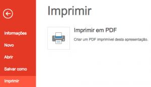 Converter um PowerPoint para PDF