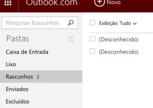 Restaurar rascunhos no Outlook para Android
