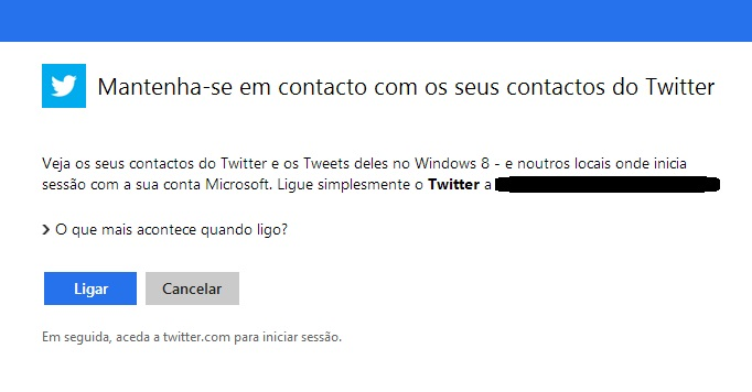 interligar Twitter ao Outlook