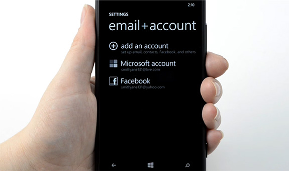 Configurar o Outlook no Windows Phone