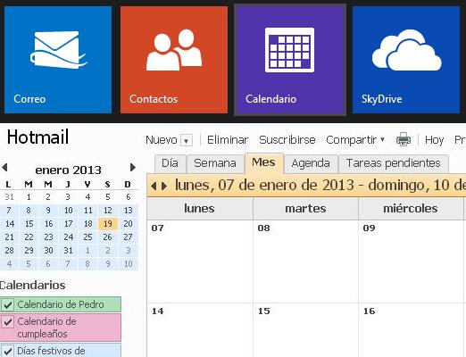 Convidar contatos para eventos do calendário