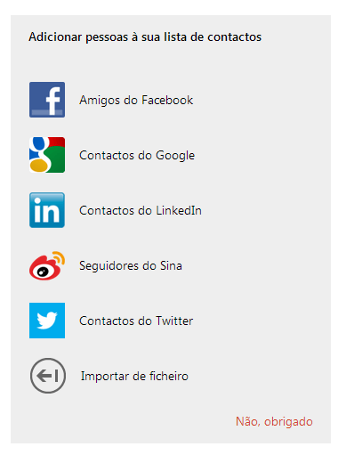 Importar contatos do Facebook no Outlook