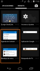 Inserir o widget do Outlook para o Android