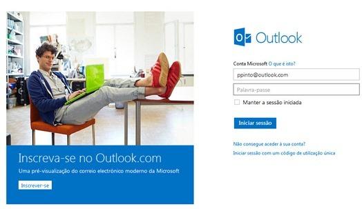 Obtenha um novo domínio no Outlook