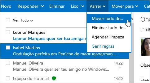 Como limpar os contatos do Outlook.com