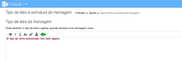 Personalize o tipo de fonte no Outlook