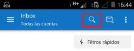 Pesquisar e-mails no Outlook para Android