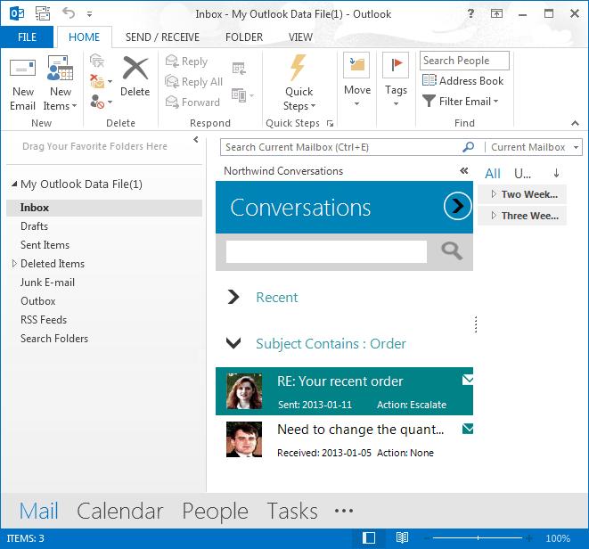 Registar-se no Outlook
