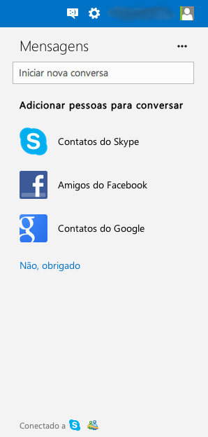 Chat do Outlook
