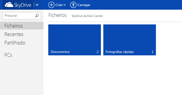 Usar o Skydrive no Outlook