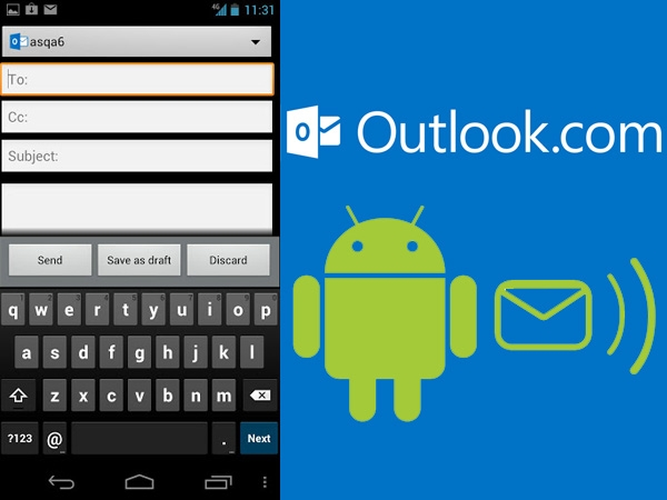 Utilizar o Outlook no Android