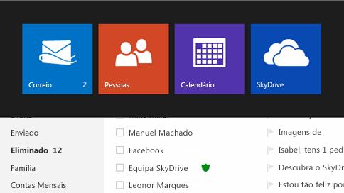 Ver o tempo no calendário do Outlook.com