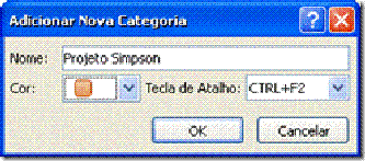 categorias de cor no Outlook