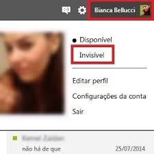 Ser invisível no chat do Outlook.com