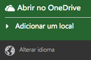 Alterar o idioma do Office Online